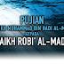 Pujian Asy-Syaikh Muhammad bin Hadi Al-Madkholi kepada Asy-Syaikh Robi' Al-Madkholi