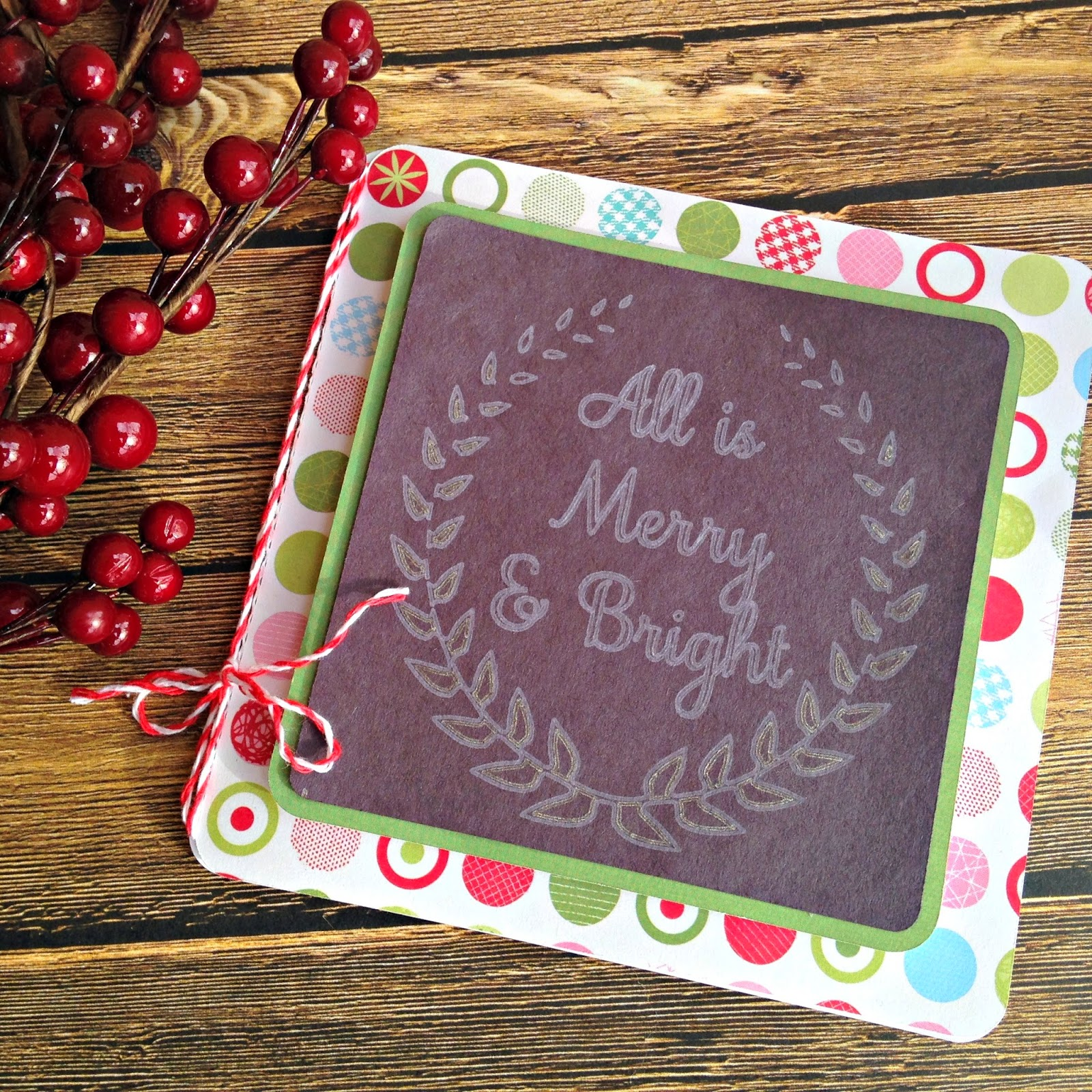 Faux Chalkboard Christmas Card (with Silhouette Sketch Pens ...