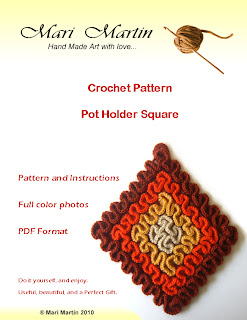 crochet potholder square pattern