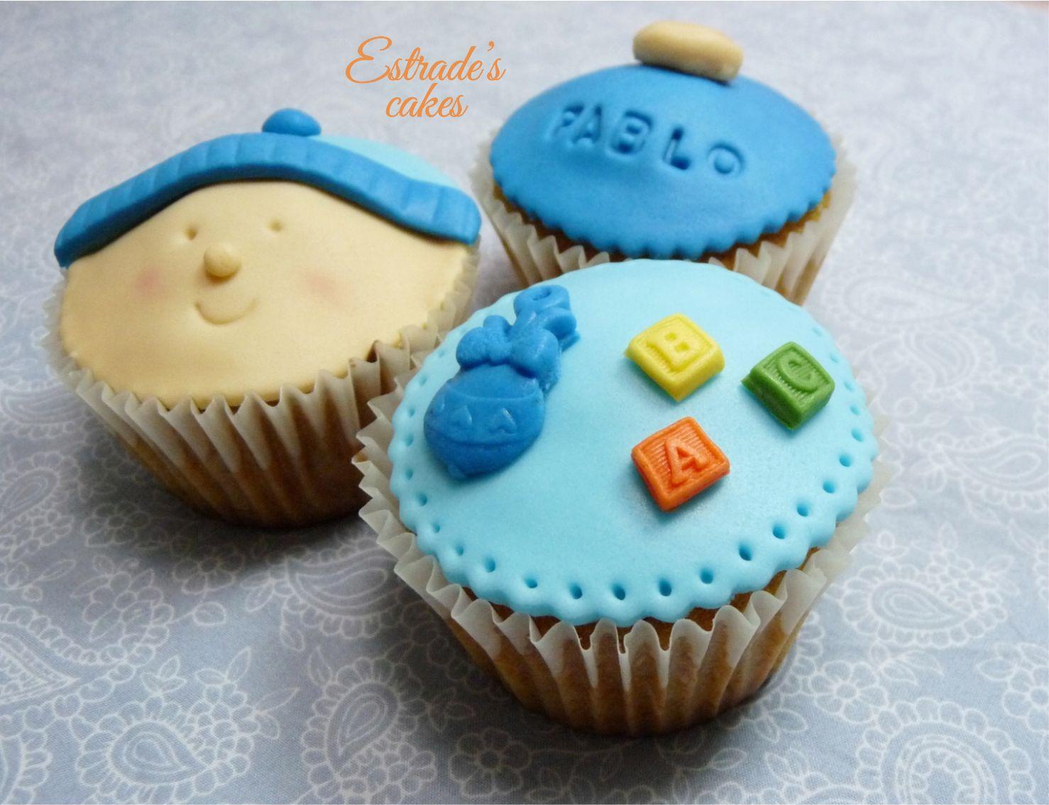 cupcakes para bebé con fondant 2 - 4