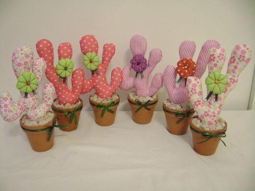 Souvenirs cactus - Manualidades en tela para regalar ...