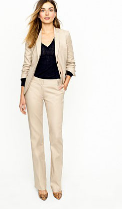 ladies's black dressy pants
