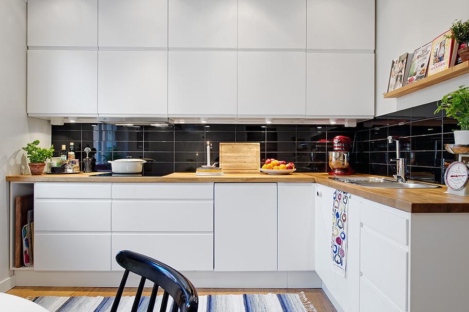 Cozinha em preto e branco  Jeito de Casa  Blog de Decoração # Azulejo Cozinha Horizontal