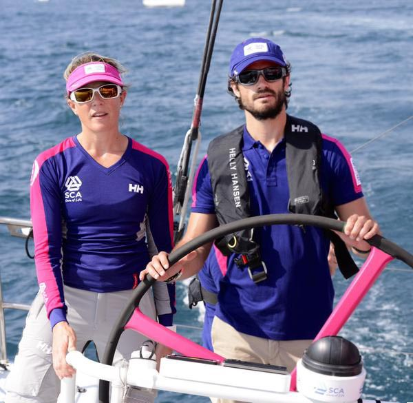 During his visit to Alicante, Prince Carl Philip, who is a patron of the Volvo Ocean Race 2014-15, joined Team SCA for the in-port race and attended the In-Port Race prize giving ceremony.