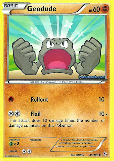 Geodude Flashfire Pokemon Card