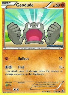 Geodude Flashfire Pokemon Card