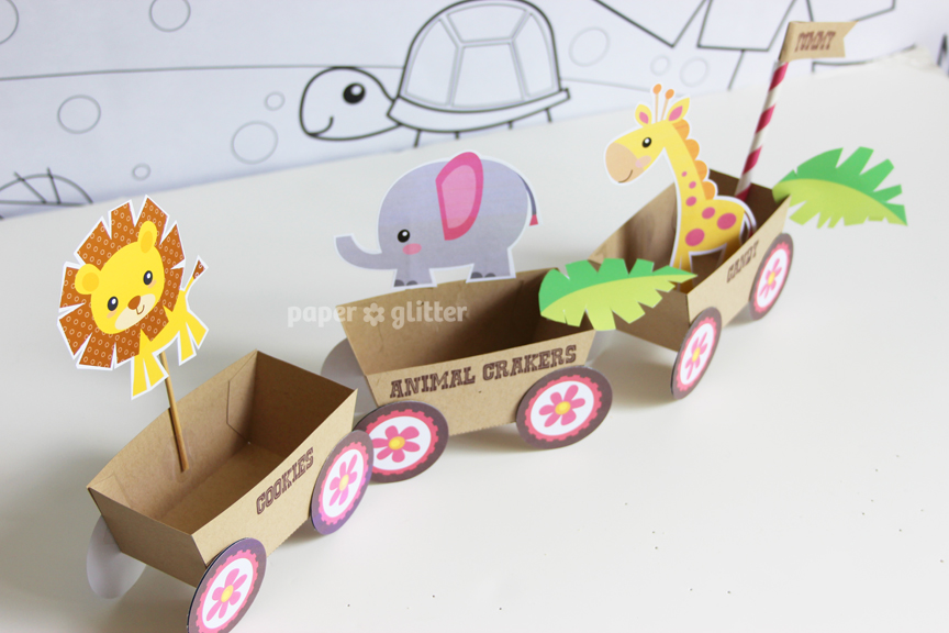 New To The Shop Paper Trains Jungle Animal Versions