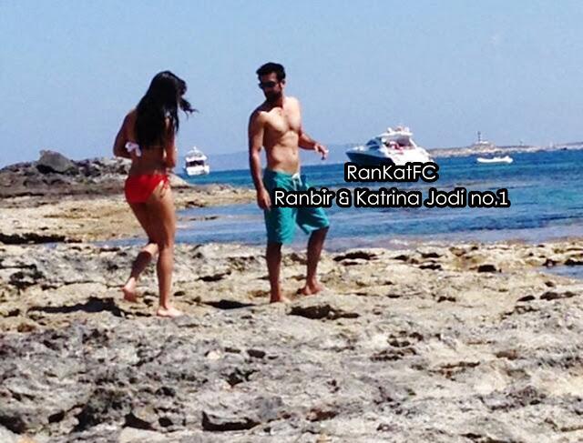 Katrina Kaif in Bikini With Ranbir Kapoor - Ibiza Beach Spain