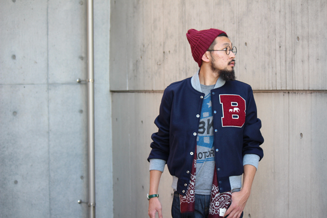 "The Brooklyn Circus ""BKc Navy Yard Varsity Jacket"" size M 49,680yen"