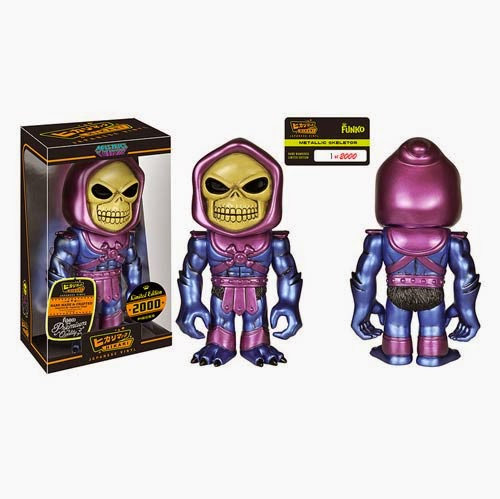 """Metallic"" Skeletor Masters of the Universe Hikari Sofubi Vinyl Figure by Funko"