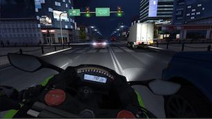 screenshot saat bermain game android  traffic rider play store