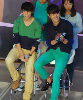 Siwon and Donghae at the Bench Event in Trinoma