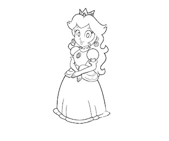 #24 Princess Peach Coloring Page