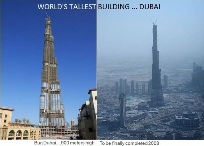 Burj Dubai is the world's tallest building 900 meters high, world records, tallest building