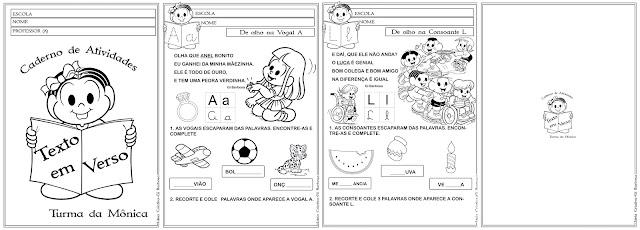 Caderno de Atividades Texto em Verso Turma da Mônica
