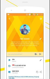 Aplikasi BBM Mod Simple Talk Orange 2.9.0.51 Paling Baru dan Mantap