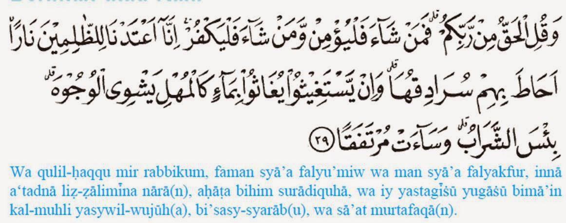 Dakwah Pelajar Islam Asbabun Nuzul Surah Al Kahfi Ayat 29