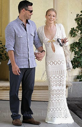 LeAnn Rimes' Crochet Wedding Brunch Dress - Affordable Wedding Dresses: Crochet