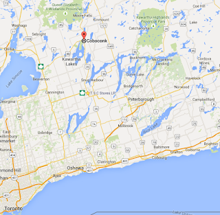 image Coboconk Kawartha Lakes Ontario Google Map Screen Shot
