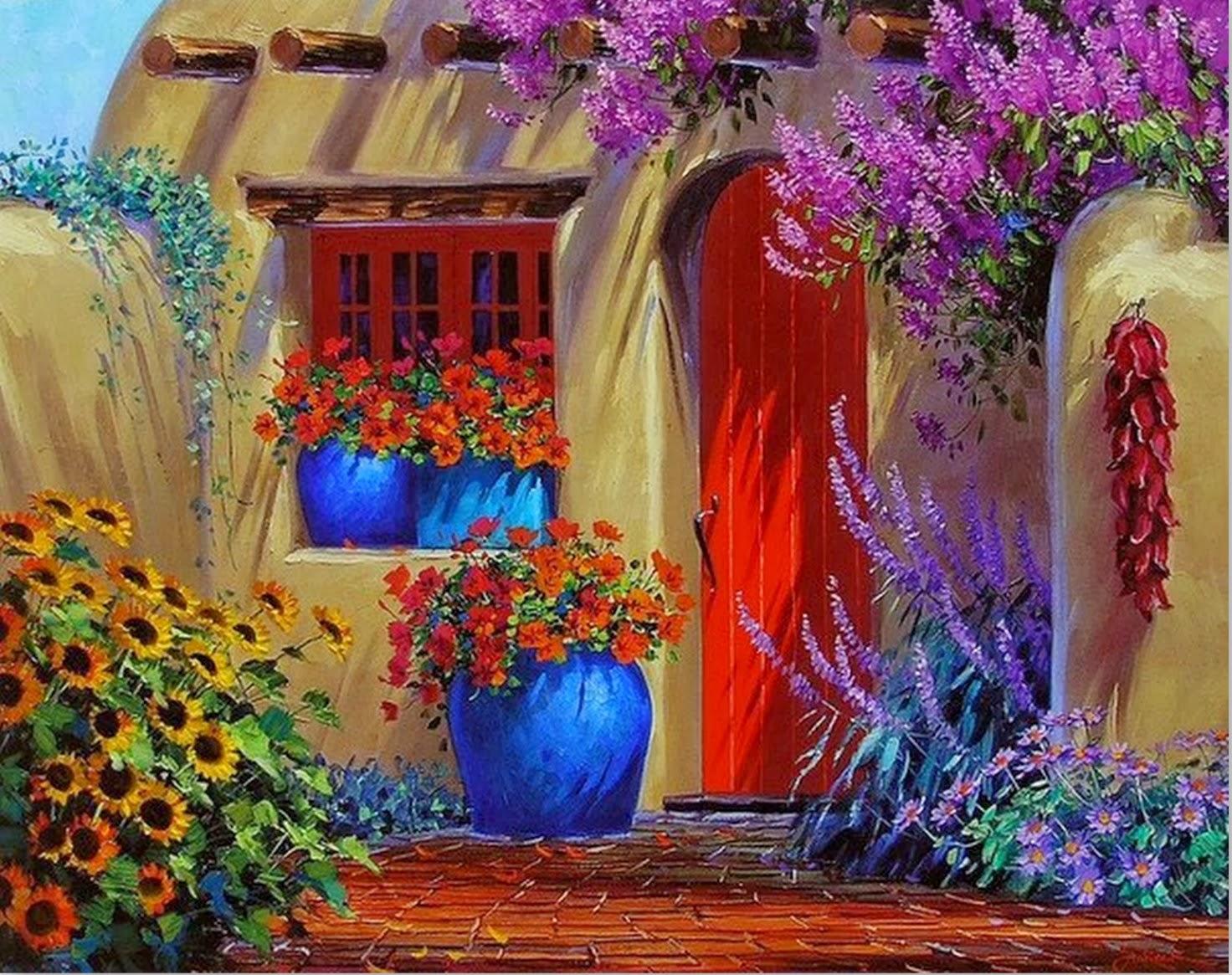 Cuadros Modernos Pinturas Y Dibujos Pintura De Flores Al
