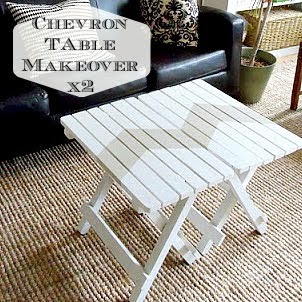 Chevron Table Makeover