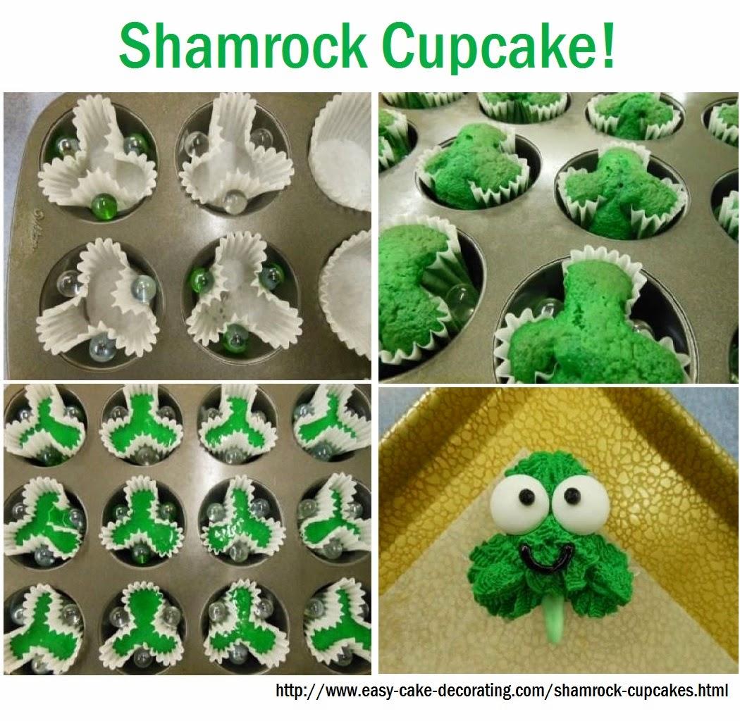 http://www.easy-cake-decorating.com/shamrock-cupcakes.html