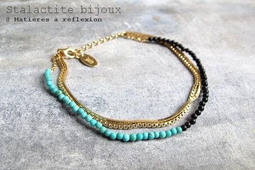 SOLDES Stalactite bracelet turquoise