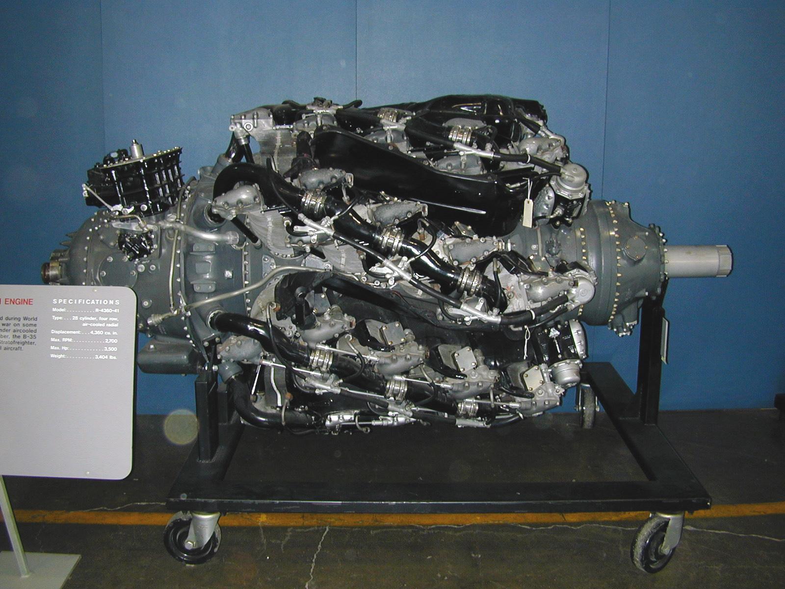Cultura Aeronáutica: Pratt & Whitney R4360: um gigantesco ...