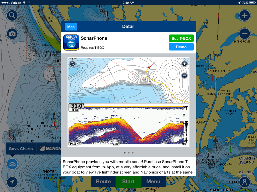 I marine apps vexilar sonarphone now on navionics for Navionics fishing app