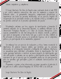 Invitacion a conformar Centro de Investigación Anarquista