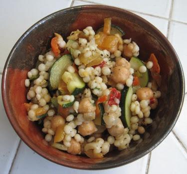 Israeli couscous & chickpea salad