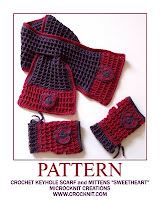how to crochet, crochet patterns, keyhole scarf, fingerless mittens, hearts,