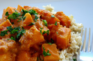 Curry de calabaza con arroz