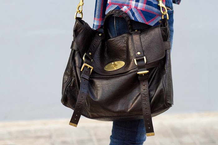 Bag Mulberry Alexa in black leather and golden hardware