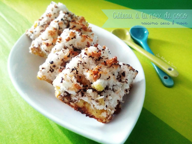 Gâteau à la noix de coco et aux fruits secs