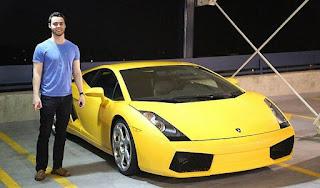 Parker Nirenstein beli Lamborghini Gallardo 2004 di usia 20 tahun (Facebook)