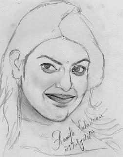 Pencil Sketch Of Kajal Agarwal