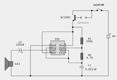 How Does The Improved Transistor Astable Multivibrator Work further Water Activated Alarm Using Ic 555 likewise Gas Leakage Sensor Alarm Circuit besides Pulse generator circuit with 555 also H And R Electronics. on 555 timer astable circuit
