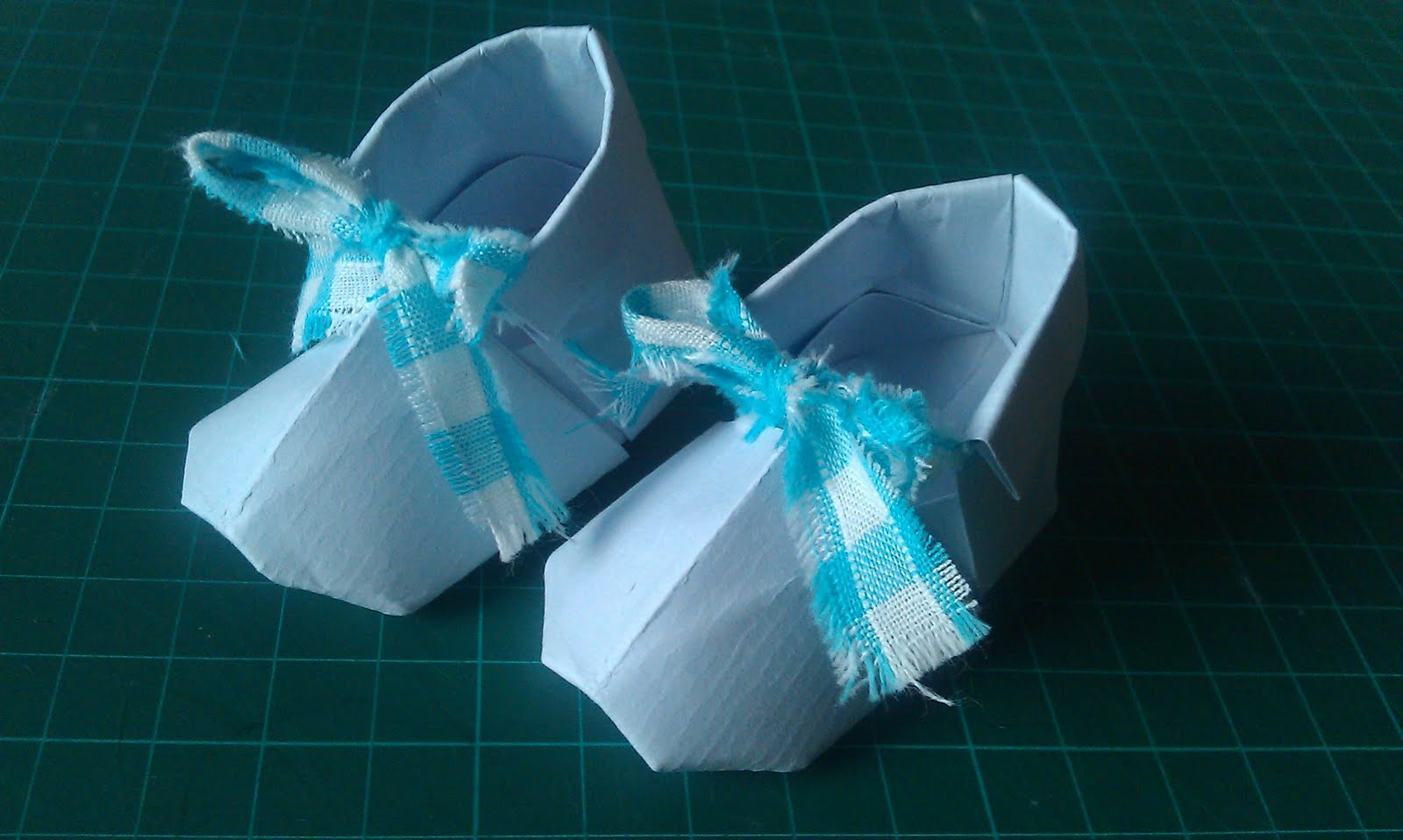 Todays Blog Post Is A Tutorial On How To Make These Origami Baby Booties They Are The Most Adorable Little Things Suitable For All Manner Of Related