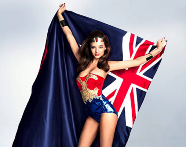 Miranda Kerr Wonder Woman pic for Grazia Magazine
