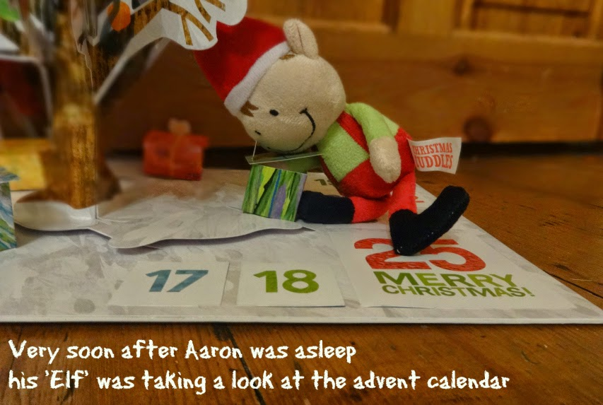 Card Factory Elf investigates the advent calendar