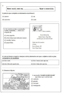 Avaliação de português- 5º ano