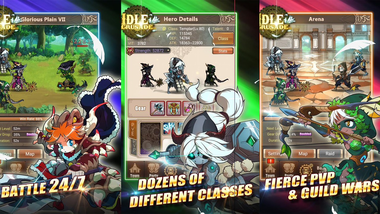 Idle Crusade Gameplay IOS / Android