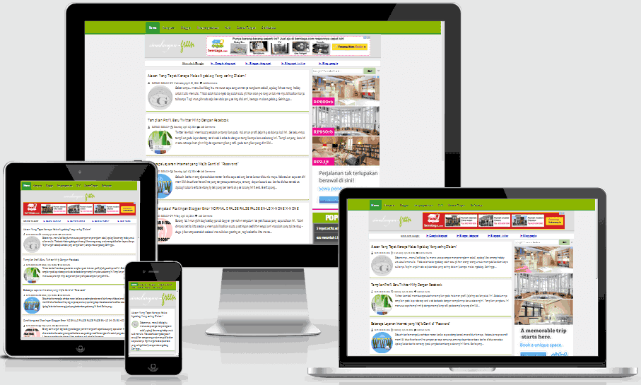 Green  Template  Blogger Responsive  dan SeoFriendly