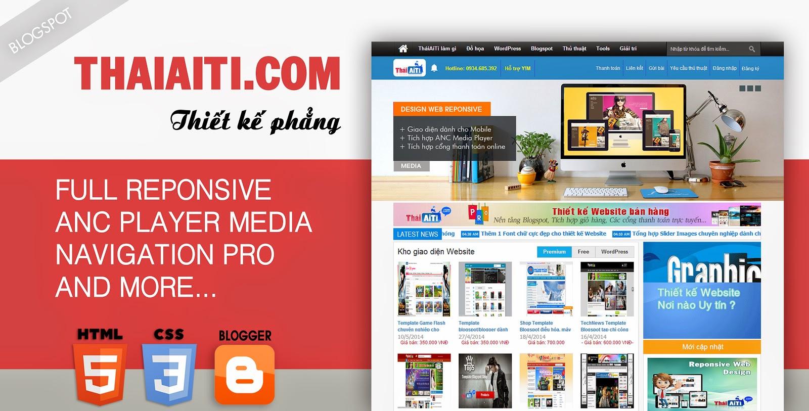 Trải nghiệm cùng ThaiAiTi.com 1 xu hướng thiết kế Website mới