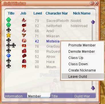Flyff Guild system
