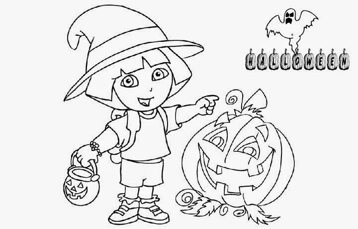 dora coloring pages halloween goblin - photo#31