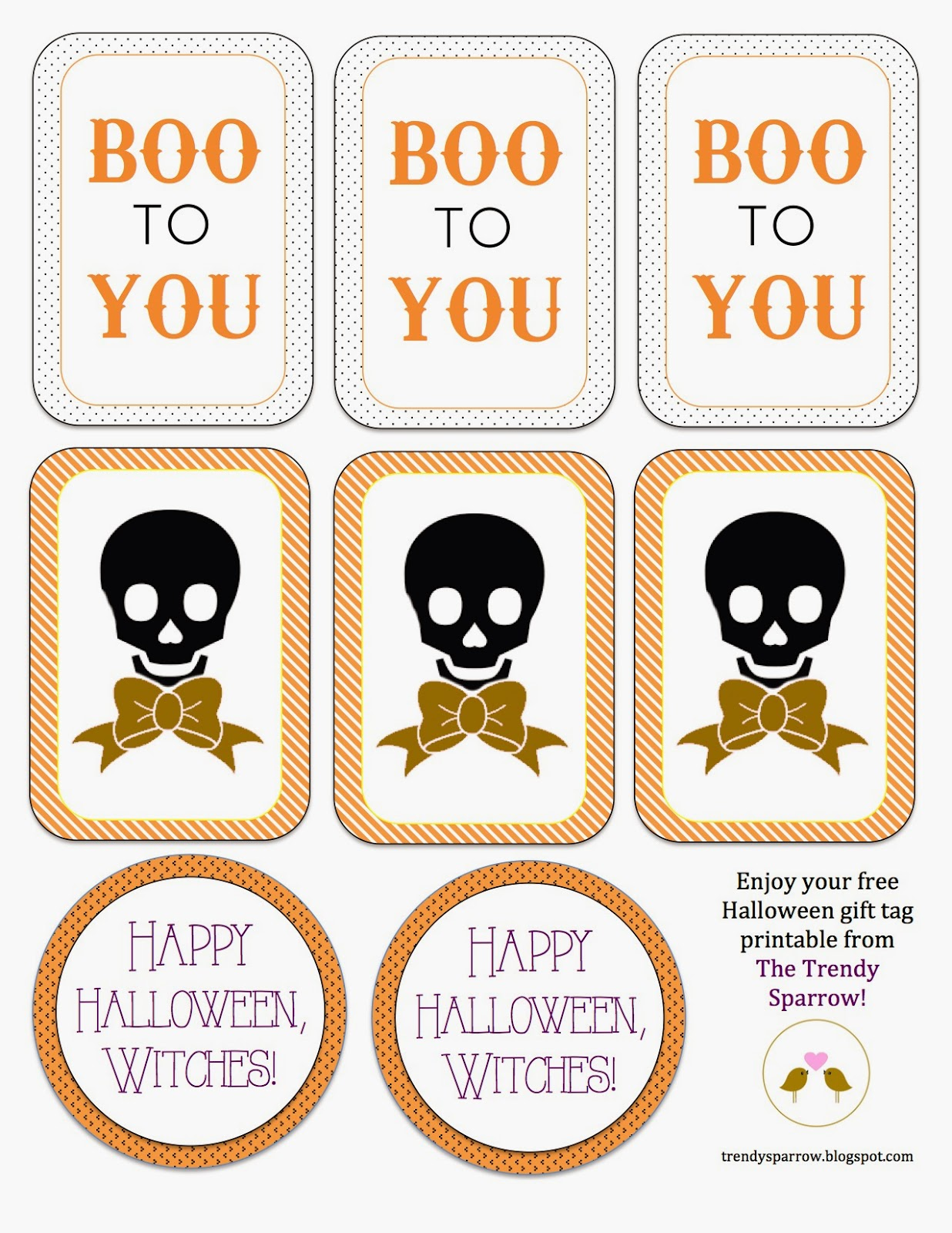 graphic relating to Free Printable Halloween Gift Tags identify The Fashionable Sparrow: No cost Printable: Halloween Reward Tags