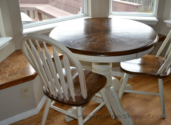 DIY Painted kitchen table by Over The Apple Tree