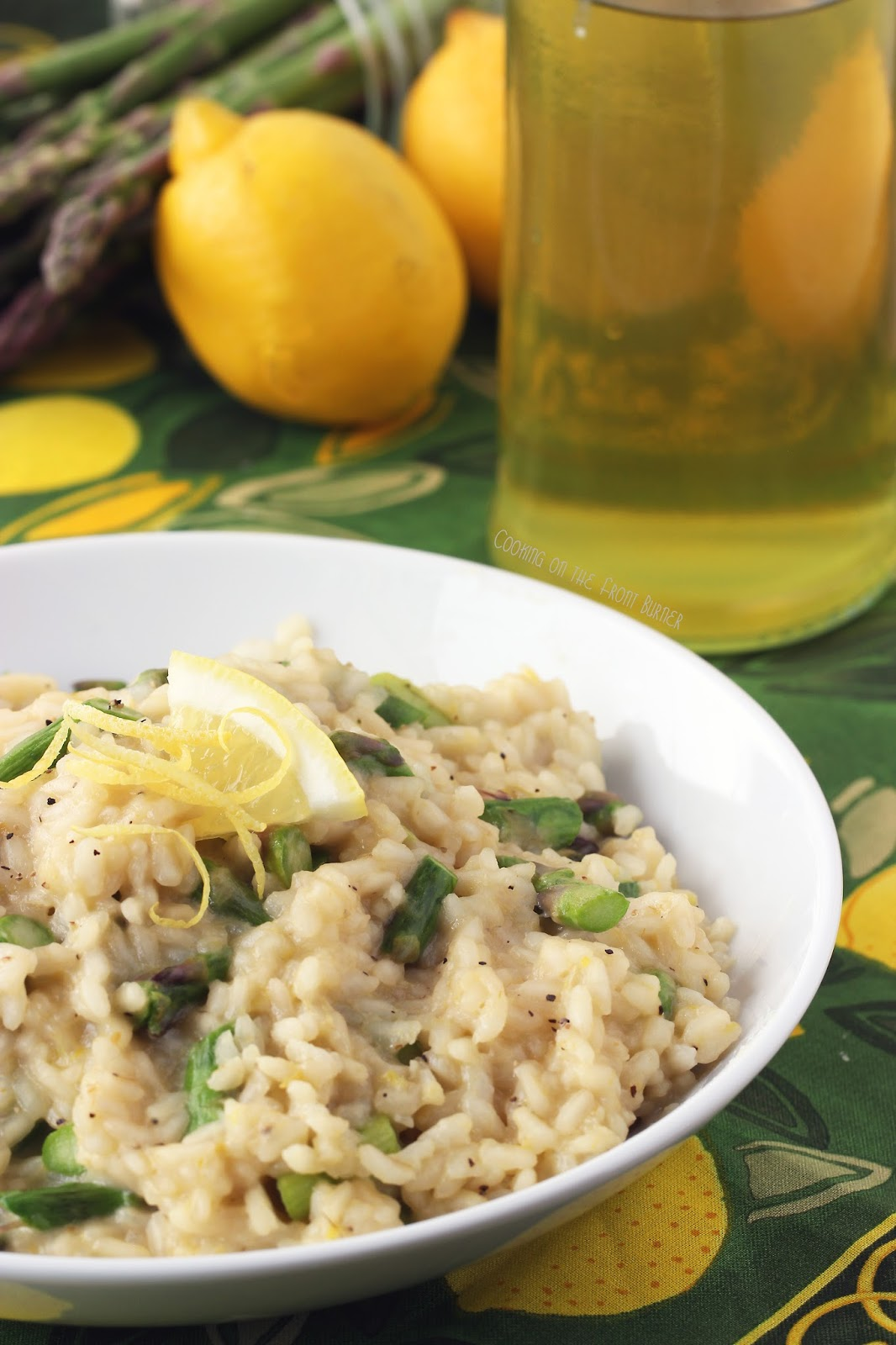 Limoncello and Asparagus Risotto | Cooking on the Front Burner #risotto #limoncellorecipes #asparagus